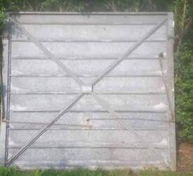 Old steel garage door for scrap