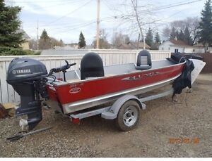 Lund boat with  30 hp Yamaha 4 stroke fishing boat