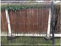 Iron gates in good condition