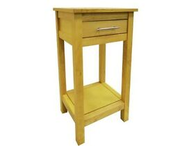 1 drawer 1 shelf telephone table - natural wood
