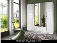 Trion 4 Door and 3 Door High Gloss Wardrobe
