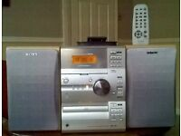 SONY MICRO HiFi COMPONENT SYSTEM WITH TAPE DECK, CD, TUNER, AMPLIFIER & SPEAKERS