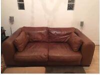 Giovanni Sforza Collection 2 Seater Light Brown Leather Sofa