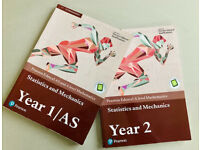 2 A Level maths books (Stats and Mechanics year 1 and 2)