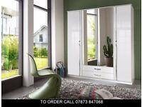 Trion German 4 Door and 3 Door High Gloss Wardrobe