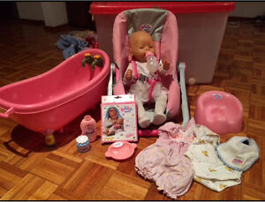 Baby born doll with accessories Quakers Hill Blacktown Area Preview