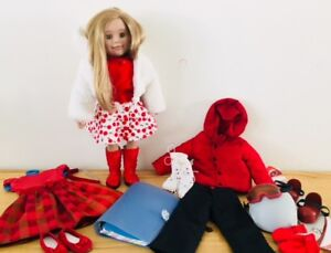 MapleLea Canadian Girl Leonie + 2 outfits and snowboard set