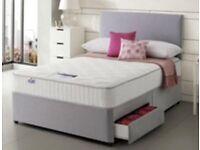 Double Divan Bed & FREE headboard