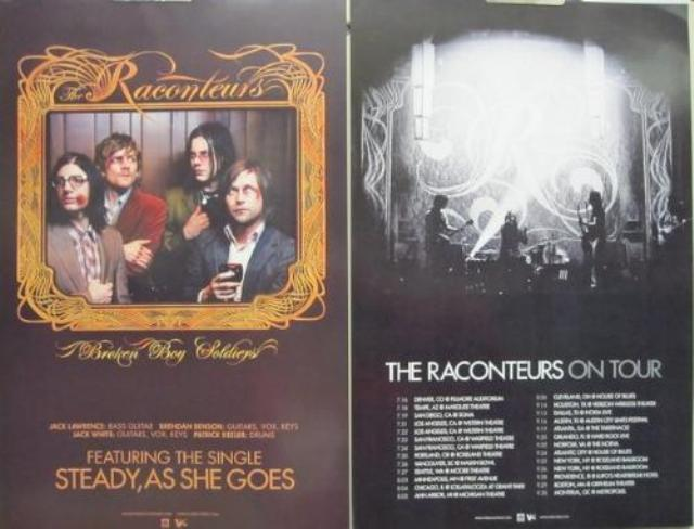 THE RACONTEURS 2008 broken boy 2 side promo poster Flawless New Old Stock