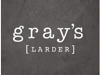 Gray`s Larder Chorlton are looking for a Chef De Partie and Commis, to join our team.