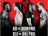KSI vs Logan Paul Tickets £60 for both