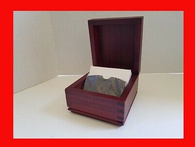 Rolodex Executive Series 200 Card Business Card File Box Real Wood Very Nice New