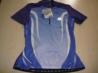 NEU Crivit Sports geniales Fahrrad Shirt Trikot Gr. XS 32 / 34 lila-weiß Blumen