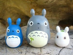 Set-of-3-TOTORO-DOLLs-Studio-Ghibli-figure-model-toy-4-grey-blue-white