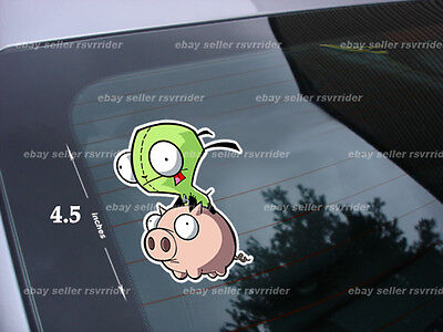 invader zim gir pig decal dog suit cartoon *free ship