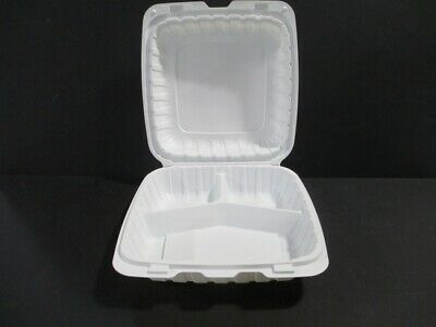 3-compartment Takeout Hinged Lid Food Container - 200case - Kuki Collection