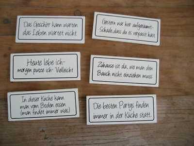 Humorvolle Magnetschilder Kühlschrankschilder Küche Haushalt Spruch 6 Stück (Humorvoll Kühlschrank-magnete)
