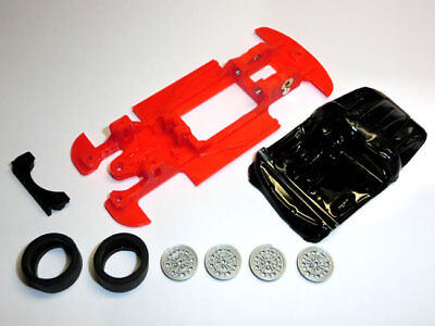 Kit Chasis 600 Abarth 1000 TC lineal + accesorios compatible SCX Scalextric...