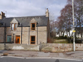 To Rent: Unfurnished 2 bedroom end-terrace house in centre of Conon Bridge village.