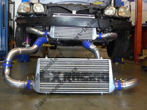 CXRacing Intercooler Kit + BOV For 98-05 Lexus GS300 2JZ-GTE Swap Stock Turbo