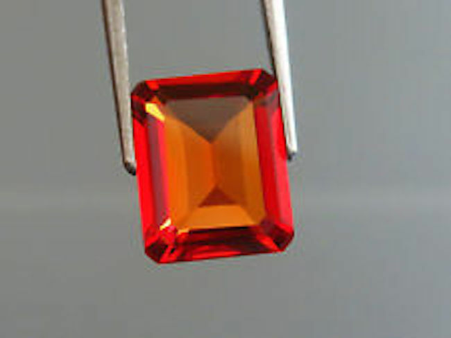 Lab Created Orange Sapphire Padparadscha #55 Octagon Loose Stones(4x2mm-18x13mm)