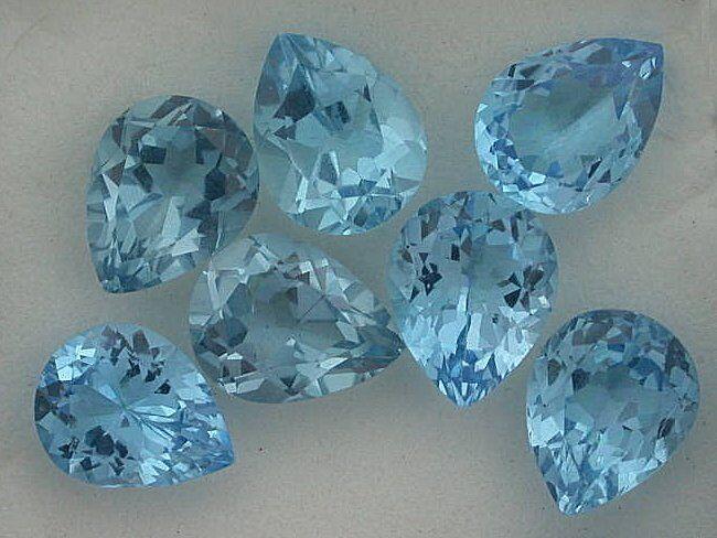 ONE - 9x7 Pear Swiss Blue Topaz Gem Stone Gemstone