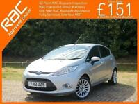 2012 Ford FIESTA 1.4 TDCI Turbo Diesel Titanium 5 Door 5 Speed Climate Control B