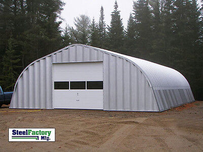 New Steel Factory Mfg A25x30x12 Metal Storage Building Farm Shelter Gambrel Arch
