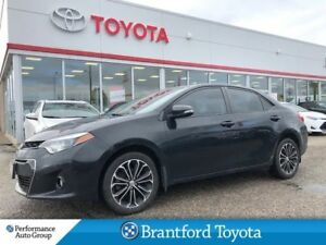 2015 Toyota Corolla S, Sunroof, Local Trade In, Black Wheels