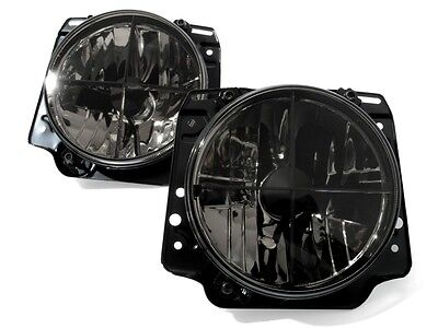 VW Golf MK2 2 Crystal Clear Black Euro ECode Sport Headlight Headlamp Cross Hair