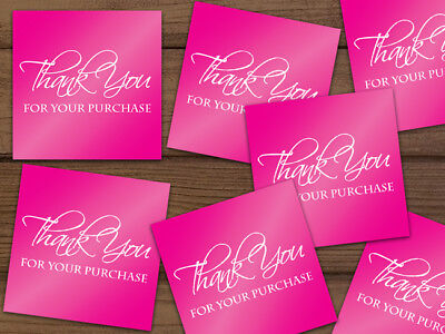 Thank You For Your Purchase Shipping Labels Stickers Hot Pink 25-1000 2x2