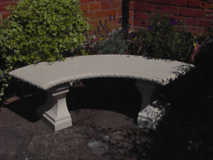 Stone Garden Bench Curved Bench Cream Stone Bench Garden Chair Garden Seat