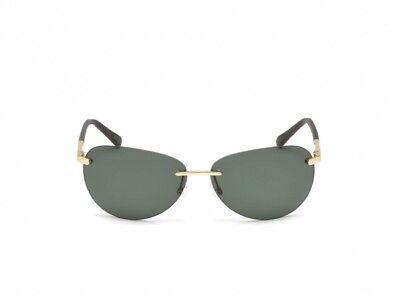 82692c99aa NWT TIMBERLAND Sunglasses TB 9117 33R Polarized Gold   Green 63 mm TB9117  NIB