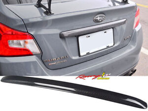 2015-2018 Subaru WRX STI Rear Trunk Garnish Trim Cover Carbon