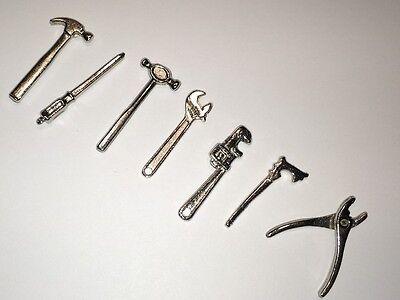 7 Piece Metal Tool Kit , Dolls House Miniatures, Tools 1.12th Scale - Tool House Kit