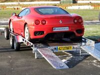 14ft CAR TRANSPORTER INDESPENSION TRAILER RECOVERY STOCK CLASSIC TRACTOR RALLY SHOW CARS TRANSPORTER