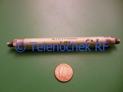 Rf If Microwave Lowpass Lpf Filter 1.342 Ghz Passband 1.501 Ghz 30db Reject Data