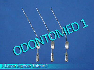 3 Baron Suction Tube 3 Diagnostic Ent Surgical Instruments