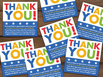 Thank You 5-star Shipping Labels Stickers Or Rubber Stamp Blue White 2x2 Ebay