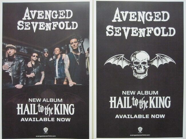 AVENGED SEVENFOLD 2013 HAIL KING 2 sided promo poster Flawless New Old Stock