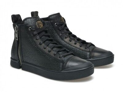 Diesel Nentish # Y01172 P1111 T8013 High Top Sneaker Black Sparkle Men 7.5 - 11 - High Top Sparkle Sneakers