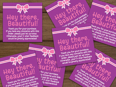 Thank You For Your Purchase Labels Stickers Purple Pink Personalized 20-1000