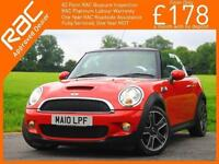 2010 Mini COOPER 1.6 Convertible S 6 Speed Electric Soft Top Chili Pack Leather