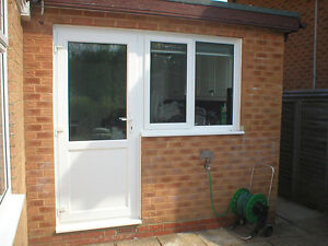 White Upvc Back Door 285 Clear Or Obscure Gl Open In Out Free Delivery