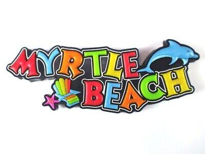 South Carolina Myrtle Beach USA Souvenir Rubber Magnet,Amerika,Neu (107)