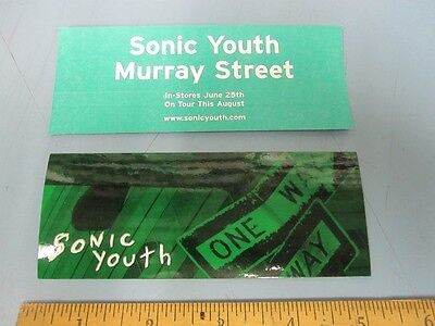 SONIC YOUTH 2002 MURRAY STREET promotional sticker #2 Mint Cond New Old Stock
