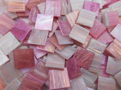 Mosaiksteine ROSA PLUS Mischung Lose Steine zum Basteln 500g 2x2cm 4mm Stark