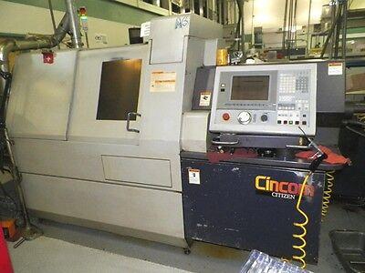 Used Citizen M-32 Type Iii Swiss Cnc Lathe 2002 1.25 Bar 8000 Rpm Screw Barfeed