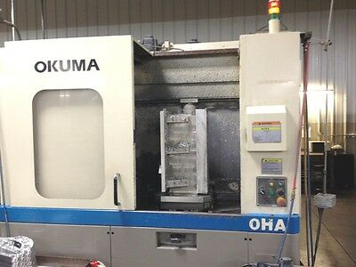 Used Okuma Ma-40ha Cnc Horizontal Mill 2003 16 Pallets 22.24.25 Hmc Mb-4000h