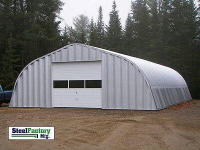 Steel Factory Mfg A25x42x14 Factory Direct Gambrel Metal Arch Garage Building